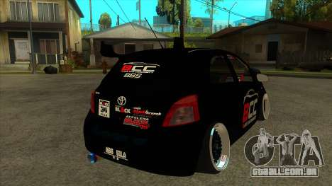 Toyota Yaris (Vitz) [Black Car Community] para GTA San Andreas vista direita