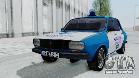 Dacia 1300 Police para GTA San Andreas vista traseira