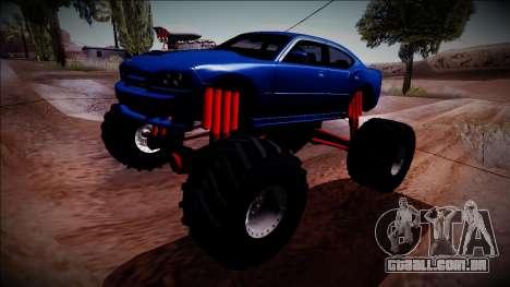 2006 Dodge Charger SRT8 Monster Truck para GTA San Andreas vista traseira