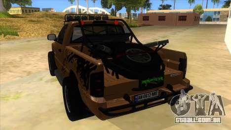 Dodge Ram SRT DES 2012 para GTA San Andreas traseira esquerda vista