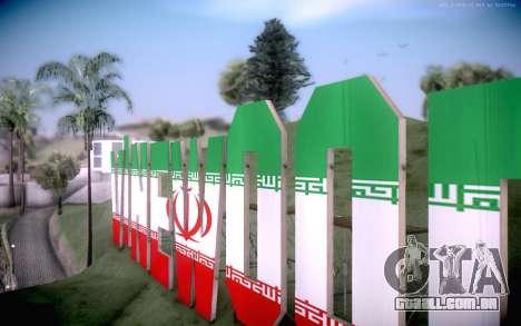 New Vinewood colors Iran flag para GTA San Andreas segunda tela