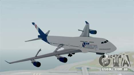 GTA 5 Jumbo Jet v1.0 Air Herler para GTA San Andreas traseira esquerda vista