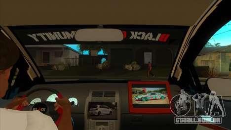 Toyota Yaris (Vitz) [Black Car Community] para GTA San Andreas vista interior