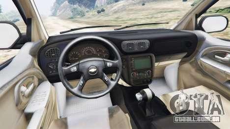 GTA 5 Chevrolet TrailBlazer traseira direita vista lateral