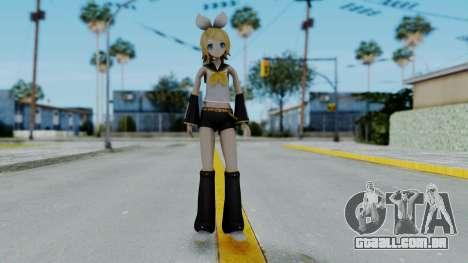 Project Diva F2 - Kagamine Rin (Costume 1) para GTA San Andreas segunda tela