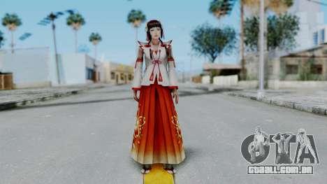 Sengoku Musou 3 - Okuni para GTA San Andreas segunda tela