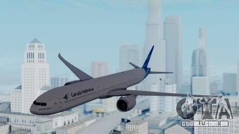 Boeing 777-9U3(X) Garuda Indonesia para GTA San Andreas traseira esquerda vista
