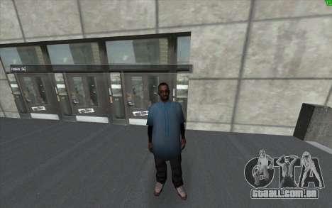 Uma mudança de visual da pele para GTA San Andreas segunda tela