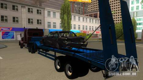 Trailer with Hydaulic Ramps para GTA San Andreas vista traseira
