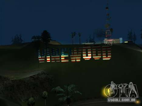 New Vinewood colors USA flag para GTA San Andreas terceira tela
