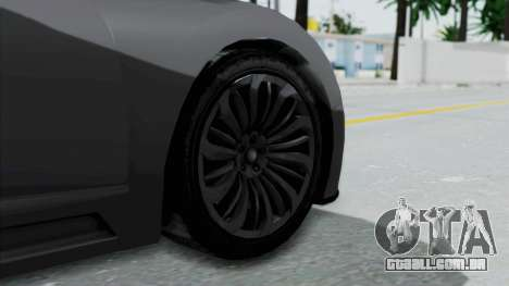 GTA 5 Truffade Adder v2 SA Lights para GTA San Andreas traseira esquerda vista