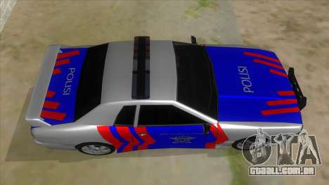 Elegy NR32 Police Edition White Highway para GTA San Andreas vista interior