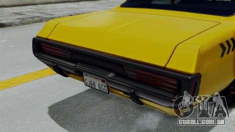 Dodge Polara 1971 Kaufman Cab para GTA San Andreas vista direita