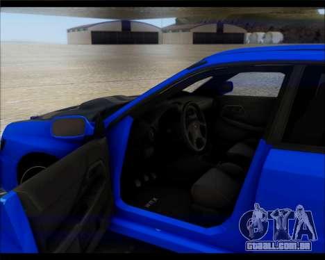 Subaru Impreza para GTA San Andreas vista direita