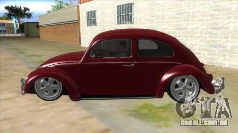 Volkswagen Beetle Aircooled V2 para GTA San Andreas esquerda vista