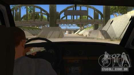 Toyota Hilux Militia para GTA San Andreas vista interior
