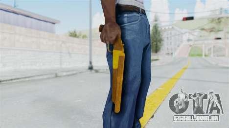 Double Barrel Shotgun Gold Tint (Lowriders CC) para GTA San Andreas terceira tela