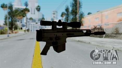 SCAR-20 v1 Folded para GTA San Andreas segunda tela
