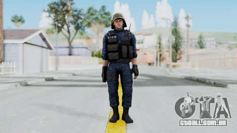 GIGN 2 No Mask from CSO2 para GTA San Andreas segunda tela