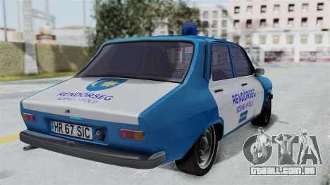 Dacia 1300 Police para GTA San Andreas esquerda vista