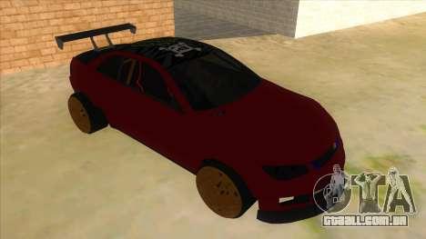 GTA V Sentinel RS MKII para GTA San Andreas vista traseira