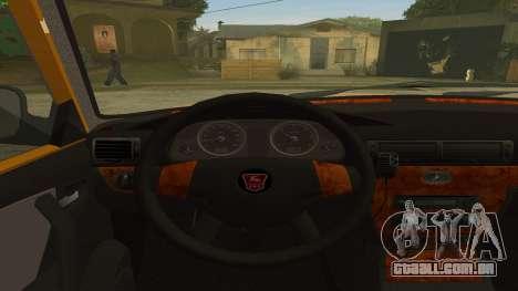 GAZ 31105 Volga Táxi FIV para GTA San Andreas vista direita
