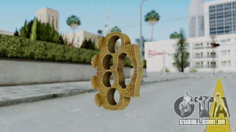 The Hater Knuckle Dusters from Ill GG Part 2 para GTA San Andreas segunda tela