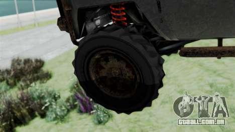 GTA 5 Karin Rebel 4x4 Worn para GTA San Andreas traseira esquerda vista