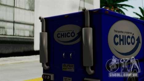 Chevrolet C30 Furgon Stylo Colombia para GTA San Andreas traseira esquerda vista