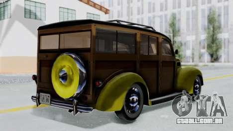 Ford V-8 De Luxe Station Wagon 1937 Mafia2 v1 para GTA San Andreas esquerda vista