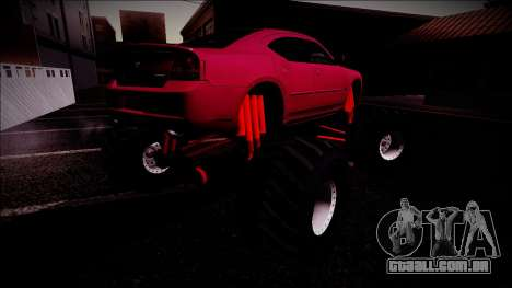 2006 Dodge Charger SRT8 Monster Truck para as rodas de GTA San Andreas