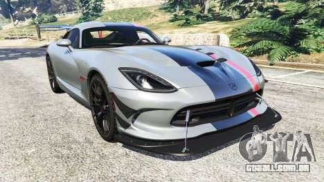 Dodge Viper SRT ACR 2016 para GTA 5