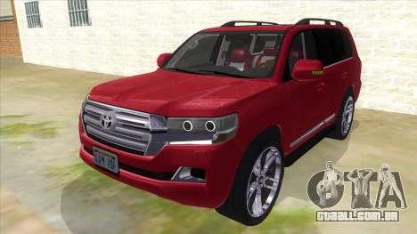 2016 Toyota Land Cruiser 200 V2 para GTA San Andreas