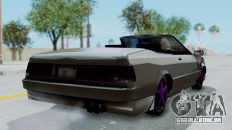 Cadrona Cabrio JDM para GTA San Andreas esquerda vista