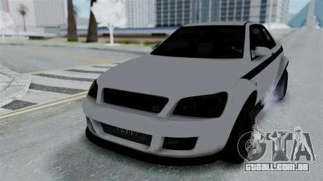 GTA 5 Karin Sultan RS Stock PJ para GTA San Andreas vista traseira