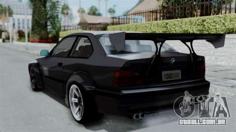 BMW M3 E36 Widebody para GTA San Andreas esquerda vista