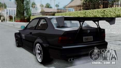 BMW M3 E36 Widebody para GTA San Andreas esquerda vista