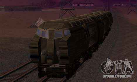 Batman Begins Monorail Train v1 para GTA San Andreas vista inferior