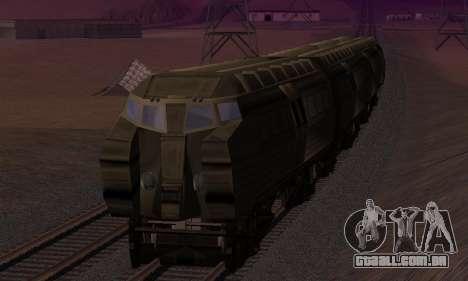 Batman Begins Monorail Train v1 para GTA San Andreas vista inferior