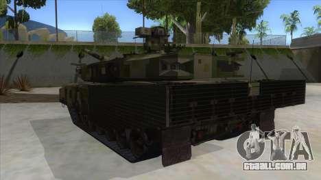 MBT52 Kuma para GTA San Andreas traseira esquerda vista