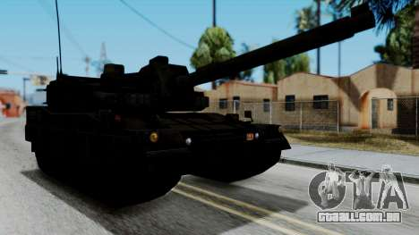 Point Blank Black Panther Woodland para GTA San Andreas traseira esquerda vista