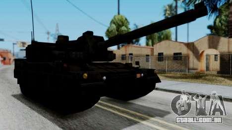 Point Blank Black Panther Woodland para GTA San Andreas traseira esquerda vista