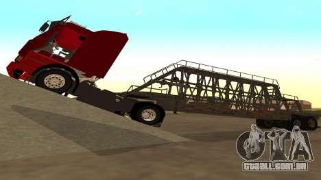 O trailer painéis para GTA San Andreas traseira esquerda vista