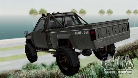 GTA 5 Karin Rebel 4x4 Worn para GTA San Andreas esquerda vista
