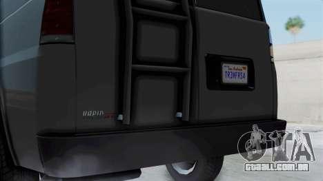 Vapid Speedo Newsvan para GTA San Andreas traseira esquerda vista