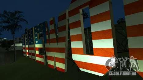 New Vinewood colors USA flag para GTA San Andreas