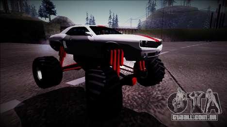 GTA 5 Bravado Gauntlet Monster Truck para GTA San Andreas vista direita