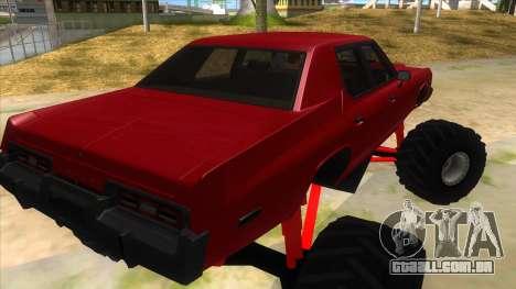 1974 Dodge Monaco Monster Truck para GTA San Andreas vista direita