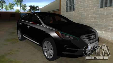 Iranian Hyundai Sonata Turbo para GTA San Andreas vista traseira