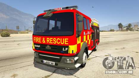 DAF Lancashire Fire & Rescue Fire Appliance para GTA 5